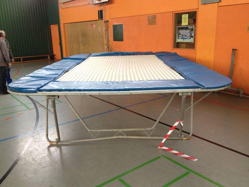 profi hirsch trampolin np 3300 f r schule und verein turnier rechteckig ebay. Black Bedroom Furniture Sets. Home Design Ideas