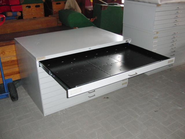 zeichenschrank planschrank architektenschrank schubladenschrank a0 metall ebay. Black Bedroom Furniture Sets. Home Design Ideas